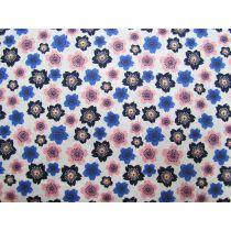 Japanese Floral- Pink/Blue