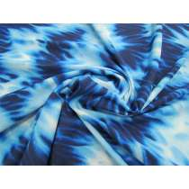 Watercolour Shades Spandex- Blue