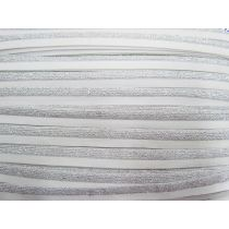 Sparkle Metallic Silver Fold Over Elastic #021