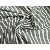 Palm Stripe Cotton Ponte #1524