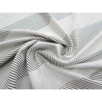 Diagonal Textured Stripe Double Knit #1562