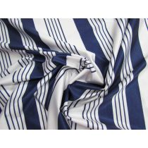 Nautical Stripe Super Slinky Shiny Spandex #1574