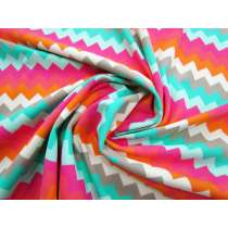 Summer Sunset Chevron Spandex #1638