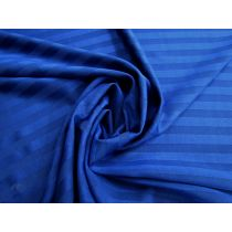 Imperfect Sheer Stripe Spandex- Royal *Seconds*