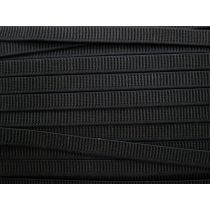 Budget Elastic- 12mm Ribbed- Black