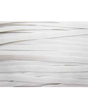Budget Elastic- 12mm Ribbed- White