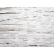 Budget Elastic- 12mm Ribbed- White