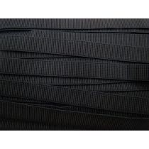 Budget Elastic- 20mm Ribbed- Black