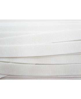 Budget Elastic- 25mm Ribbed- White
