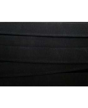 Budget Elastic- 32mm Ribbed- Black
