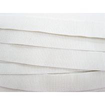 Budget Elastic- 32mm Ribbed- White