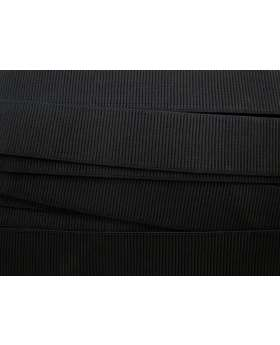 Budget Elastic- 38mm Ribbed- Black