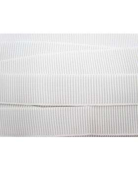 Budget Elastic- 38mm Ribbed- White
