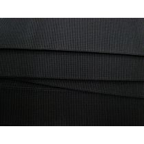 Budget Elastic- 50mm Ribbed- Black
