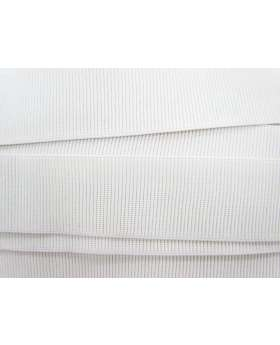 Budget Elastic- 50mm Ribbed- White
