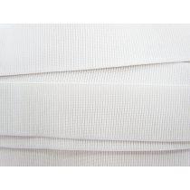 Budget Elastic- 50mm Ribbed- White