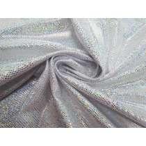 Lizard Skin Foil Spandex- Silver/White