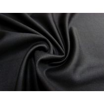 Stretch Wool Blend Suiting- Black #1693