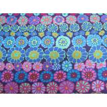 Kaffe Fassett- Row Flowers- Blue