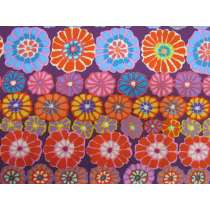 Kaffe Fassett- Row Flowers- Red