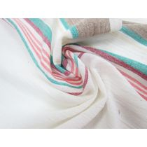 Ocean Road Border Stripe Cotton Cheesecloth #1754