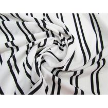 Lightweight Double Stripe Crepe #1758