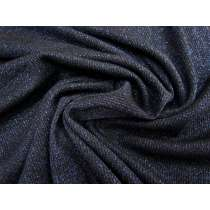 Lurex Rib Knit- Midnight Navy #1770