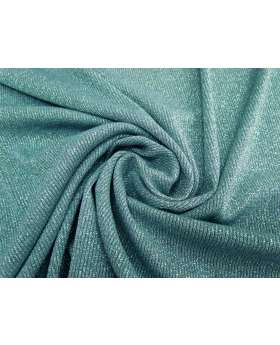 Lurex Rib Knit- Mermaid Teal #1771