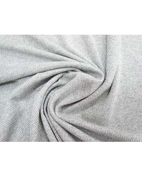 Lurex Rib Knit- Silver #1773