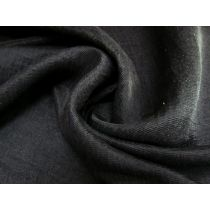Satin Back Chirimen Crepe- Black #1775