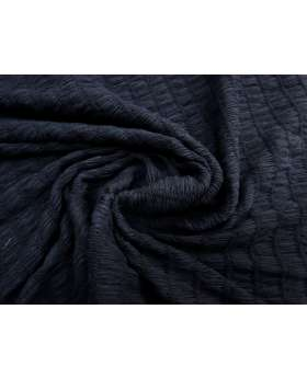 Soft Cotton Blend Shirred Knit- Navy #1779