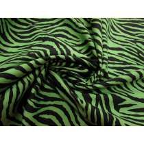 Zebra Print Cotton- Acid Green #1803