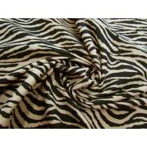 Zebra Print Cotton- Natural Beige #1804