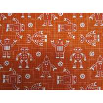 Robot Factory Organic Cotton- Rust Orange