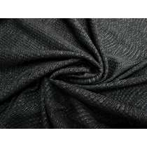 Crinkle Wave Metallic Jersey-Black #1844