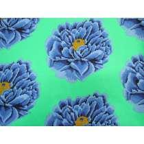 Kaffe Fassett 274cm Wide Width Cotton- Full Bloom- Blue