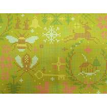 Alison Glass- Holiday- Crossed in Olive