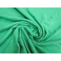 Soft Cotton Rib Knit- Bright Jade #1891