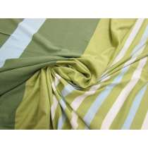 New Stripe Viscose Jersey- Green/Blue #1945