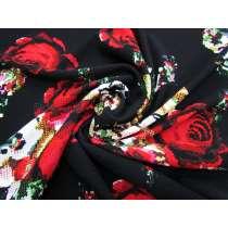 Dark Botanicals Textured Double Knit #1963