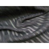 Fashionista Self Stripe Chiffon- Black