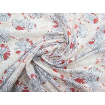Flowery Illustration Cotton Jersey #2020