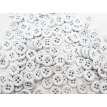 5 for $1- Metal White Fashion Button #FB119