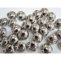 23mm Shiny Silver Domed Fashion Button #FB123