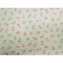 Japanese Cotton Canvas-  Pink Floral