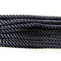 5mm Japanese Twisted Cord- Shiny Black
