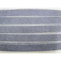 Japanese Shaggy Grosgrain Ribbon- Denim Blue