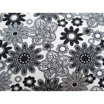 Black & White- Funky Flowers #04