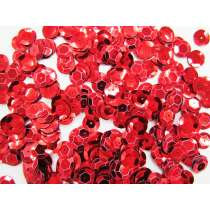 24gm Sequin Pack- Red- 12mm #010