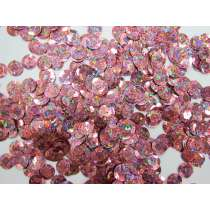 24gm Sequin Pack- Holographic Dusty Pink- 12mm #016